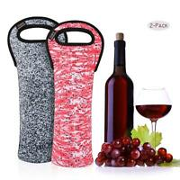 Nuovoware 2Pcs Wine Bottle Bag Portable Wine Tote Holders Carriers Insulated Bag