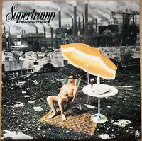 SUPERTRAMP CRISIS WHAT CRISIS 1ST PRESS 1975 UK A&M VINYL LP AMLH 68347 EX / EX