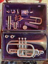 Antique Rare Carl Fischer New York Cornet #18561 W/ Accessories