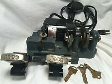Vintage Ilco Portable Manual Key Cutter Duplicator - Working Condition