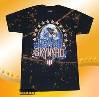 New Lynyrd Skynyrd Men's Eagle America Bleach Stained Vintage Classic T-shirt