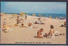 Postcard Beach Scene Greetings From Avon by the Sea, NJ