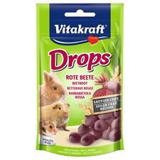 VITAKRAFT Small Animal BEETROOT DROPS Rodent Rabbit Hamster Vegetable Treats 75g