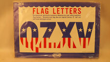 "Vtg American Flag Letters 5""  Classroom Decor by Scholars 1972 NOS Teaching Aid"