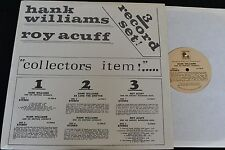 3 LP SET Hank Williams and Roy Acuff Lamb and Lion 706