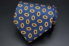 DORMEUIL Silk Tie. Blue Yellow & Red Geometric.