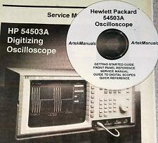 HP 54503A SERVICE  & OPERATION MANUALS (5 VOLUMES)