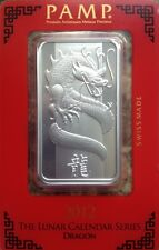 Pamp Suisse Silver 2012 Lunar Dragon 1 Oz In Assay