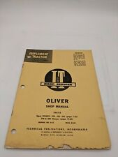 I Amp T Tractor Supplement Manual Oliver O 13 99gmtc 950 990 995 770 880