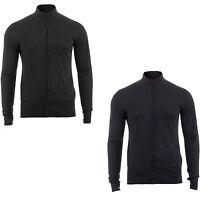 Men's High Neck Full Zip Warm Thin Light Jumper Cardigan Top Fleece Long Sleeve