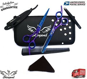"""Professional Barber Hair Cutting Thinning Scissors Shears Hairdressing Set 6.5"""""""