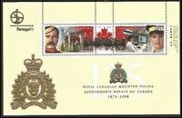 Canada 1737d RCMP Police Horse Helicopter souvenir sheet MNH ** Portugal 98