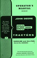 John Deere Model 530 Tractor Standard Gas All Fuel Operators Manual SN 5300000
