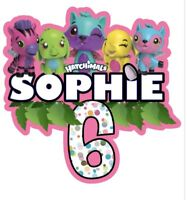 Hatchimals PERSONALISED Cake Topper.  Lolly Loot Bag Party Supplies Bunting