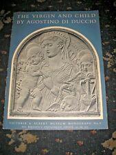 VIRGIN & CHILD BY AGOSTINO DI DUCCIO VICTORIA & ALBERT MUSEUM 1952 10 PLATES