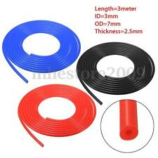 6mm Silicone Vacuum Tube Hose Silicon Tubing 10ft 3M 3 Meter Blue/Red/Black