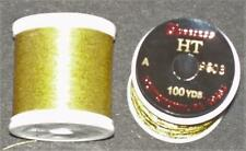 """2 Spools Vintage Gudebrod Rod Winding Thread Ht Yellow Gold #9603 """"A"""""""