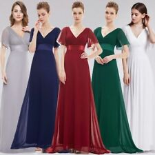 Ever-Pretty Short Sleeve V-Neck Evening Prom Gowns Long Bridesmaid Dresses 09890