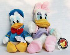 Disney Store Parks Plush Doll Donald Duck Daisy Disneyland Beanie bag Lot NWT