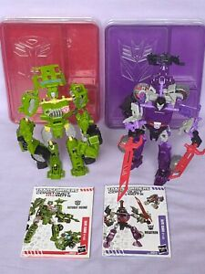 TRANSFORMERS Construct Bots Elite lot x2 Autobot HOUND Decepticon MEGATRON TOMY