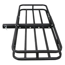 "Hitch Mount Cargo 53""x19"" Carrier Basket Rack Hauler Luggage 2"" Hitch Receiver"