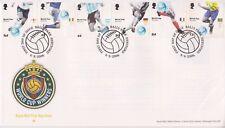 UNADDRESSED BALLS PMK GB ROYAL MAIL FDC 2006 WORLD CUP WINNERS STAMP SET