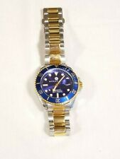 """Henry Jay Men's Gold Plated Two Tone Stainless Steel Specialty Aquamaster 8"""""""