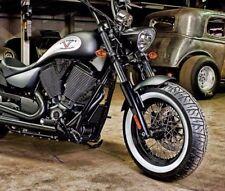 "17"" inch Wide Motorcycle White Wall Portawall Sidewall Tyre insert Trim Set x4"