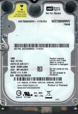 Western Digital WD7500KMVV-11TK7S1 DCM: HHMTJHBN 750GB