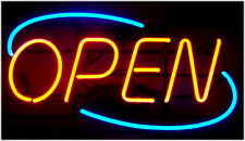 HORIZONTAL NEON OPEN SIGN / LIGHT - BIG OPEN SIGNS - RESTAURANT BUSINESS BAR