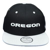 NCAA Zephyr Oregon Ducks Two Tone Black White Snapback Hat Cap Flat Bill