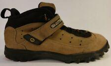 Shimano SH-M057 tan suede leather mountain biking shoes US 9 EUR 43