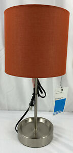Room Essentials Stick Lamp Red Shade for Bedrooms, Living Rooms, Dens, Etc