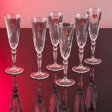 RCR 25600020006 Italian Crystal Melodia Champagne Flutes Set of 6 - SALE