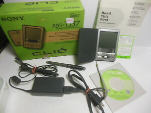 Sony CLIE PEG-TJ37 Palm OS Personal Entertainment Organizer PDA In Box Powers On