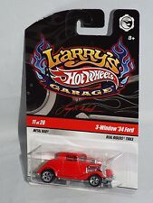 Hot Wheels Larry's Garage Series 11/20 3-Window '34 Ford Red