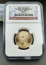 2007 P Washington Presidential Dollar Coin First Day of Issue BU NGC MS65 SMS