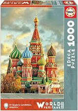 EUC Views of Moscow Cathedral of San Basilio Educa 1000 PC Piece Puzzle