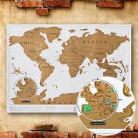 International Scratch The World Travel Map  gold Scratch Off World Map