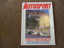 Autosport 21 July 1988 Colin Malkin Jacques Laffite Toronto CART Enna F3000