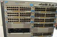 HP ProCurve 5412zl J8698A Switch w/ 8x J8702A 1x J8726A 4x J8712A
