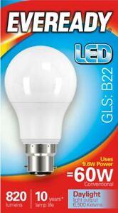 10 x 9.6w = 60w LED GLS Bayonet BC B22 Light Bulb Daylight White 60 Watt Lamp