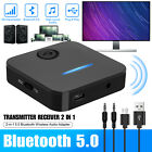 2in1 Bluetooth 5.0 Transmitter Receiver Adapter TV Home Stereo A2DP Audio 3.5mm