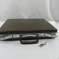 VINTAGE Samsonite Brown Hard Shell Briefcase Attache Case Original Keys