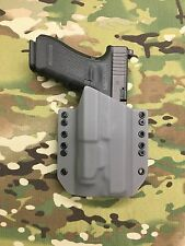 Battleship Gray Kydex Holster for Glock 34 35 Inforce APL