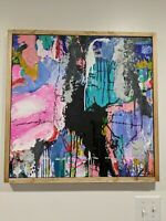"""original acrylic painting abstract modern colorful contemporary art 24x24"""""""