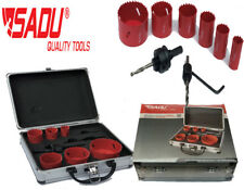 Plumber Hole Saw Kit 9pc Plumber Kit with Aluminium Case 19-57mm SADU Tools