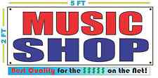 MUSIC SHOP Banner Sign NEW Larger Size Best Quality for the $$$