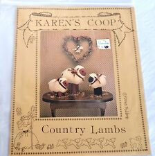 Karen's Coop Country Lambs 3 Stuffed Animals Dolls Kit Sewing Patterns Robison