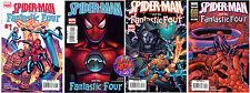SPIDER-MAN AND THE FANTASTIC FOUR #1, 2, 3 & 4 (FULL SET) MARVEL COMICS